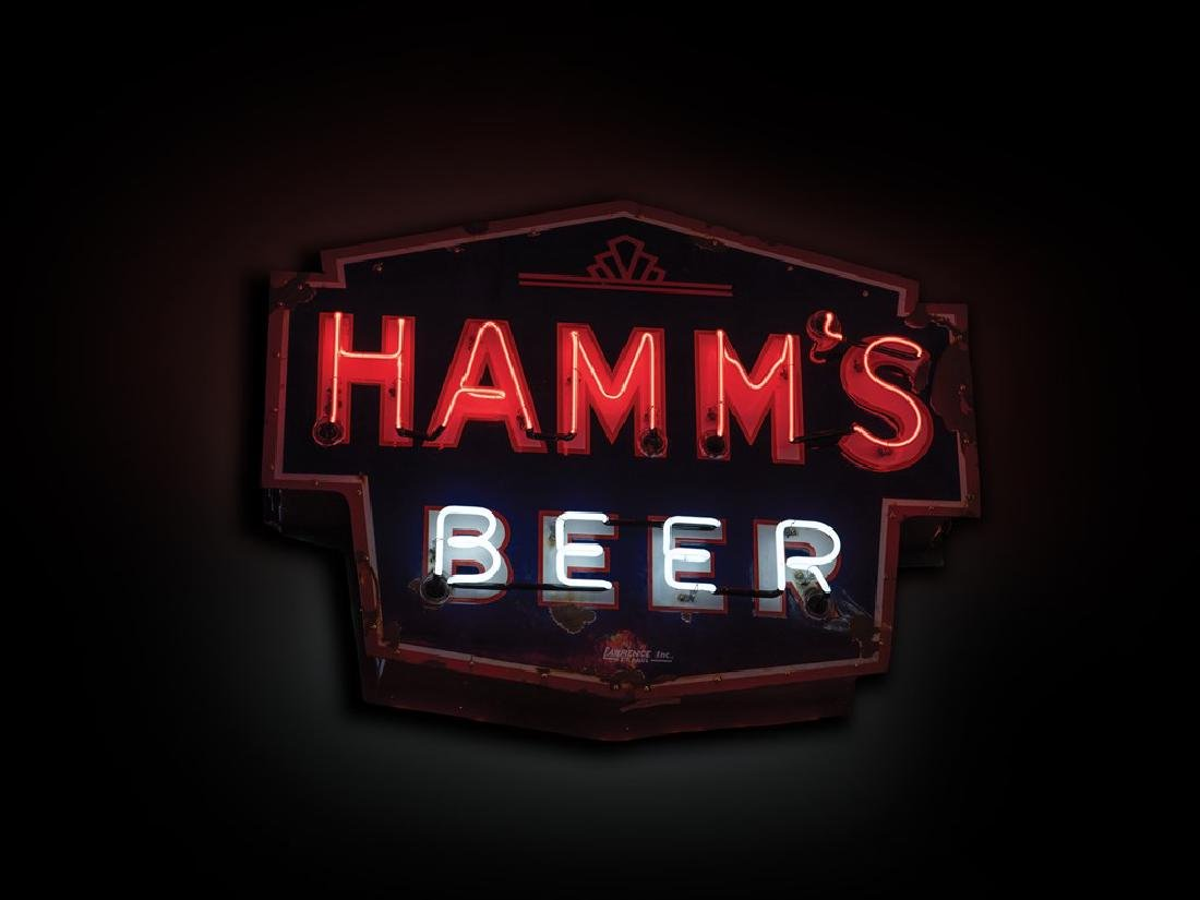 Hamm's Beer Double-Sided Neon Sign