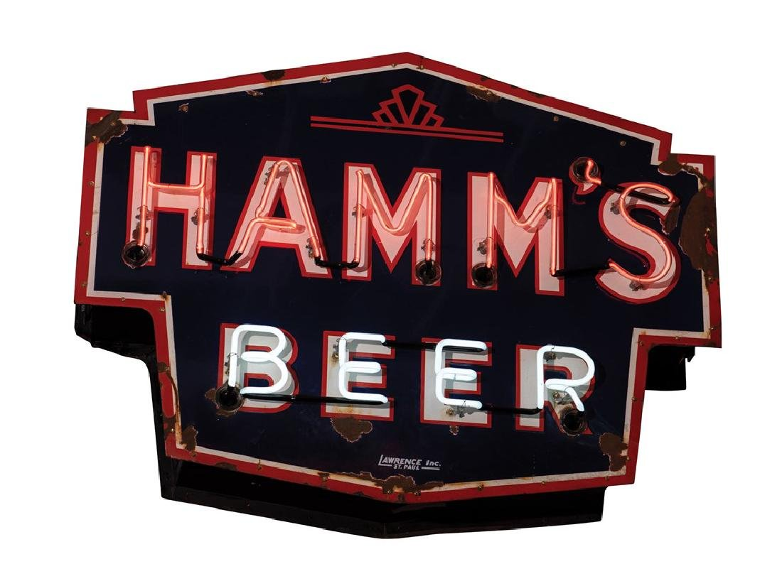 Hamm's Beer Double-Sided Neon Sign - 2