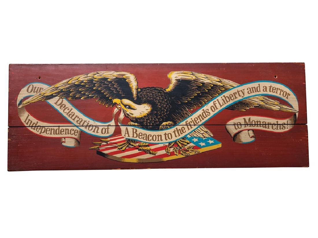 Declaration of Independence Wood Sign