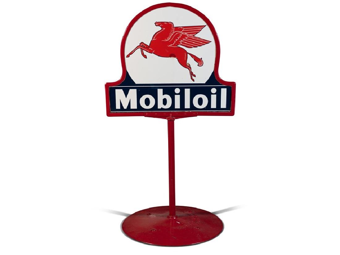 Mobiloil Double-Sided Standing Sign