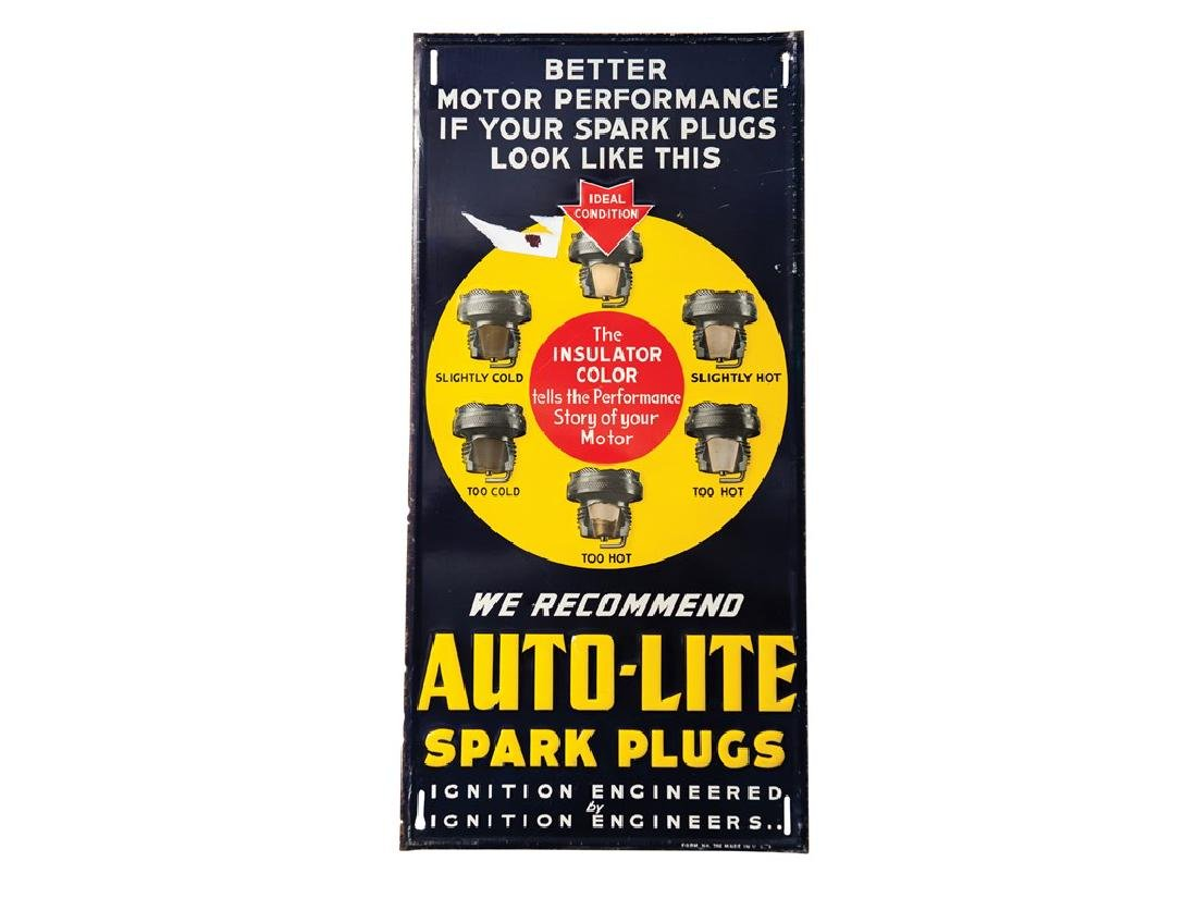 Auto-Lite Spark Plugs Metal Sign