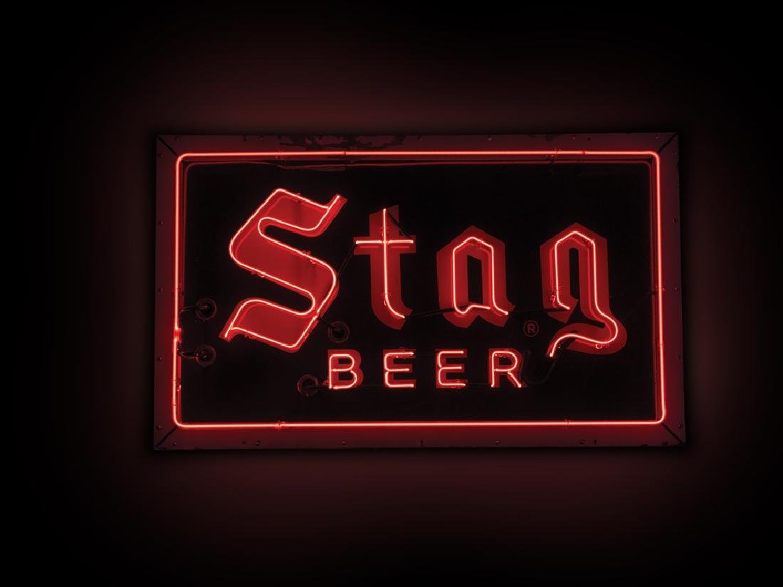 Stag Beer Neon Sign