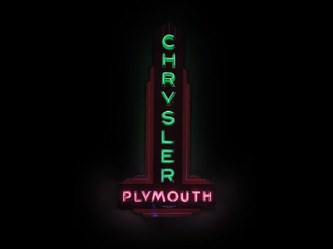 Chrysler Plymouth Double-Sided Neon Sign
