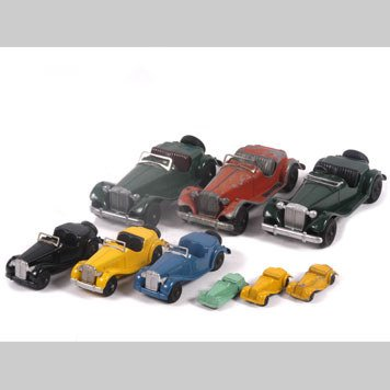 2014- TOY MG CARS BY HUBLEY KIDDIE TOY AND TOOTSIETOY