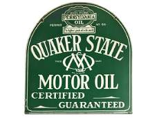 Quaker State Motor Oil Tombstone Sign