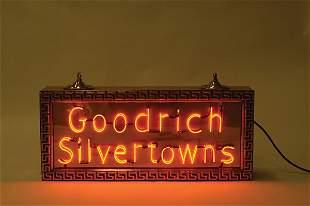 Goodrich Silvertowns Neon Sign