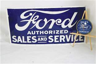 Ford Sales & Service Wall Clock & Sign