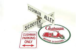 Cushman Scooter Signs