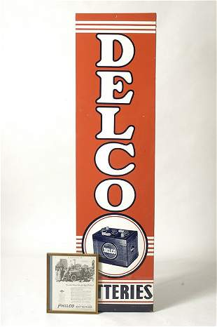 Delco Battery Sign