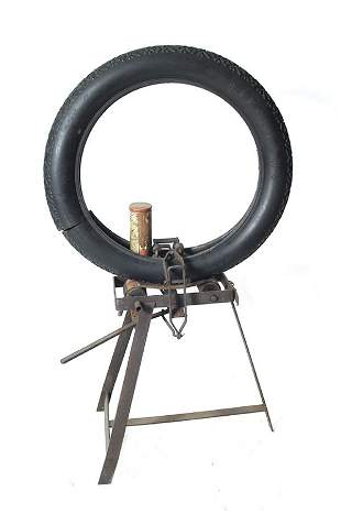 Antique Tire Mounting Stand