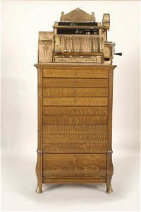 5346: Large National Cash Register and Drawer Stand