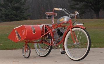 202: 202-1950 Schwinn Whizzer with Sidecar