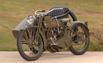 205: 205-1919 Harley-Davidson Model J with Sidecar