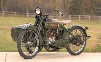 208: 208-1923 Harley-Davidson Model WJ with Sidecar