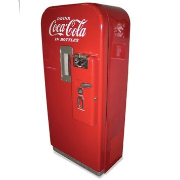 124: 124-Vendo Coca-Cola Vending Machine27x59x16 inches