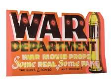 War Department Sign