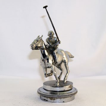 109: Polo Player, English, brass chrome plated, by LeJu