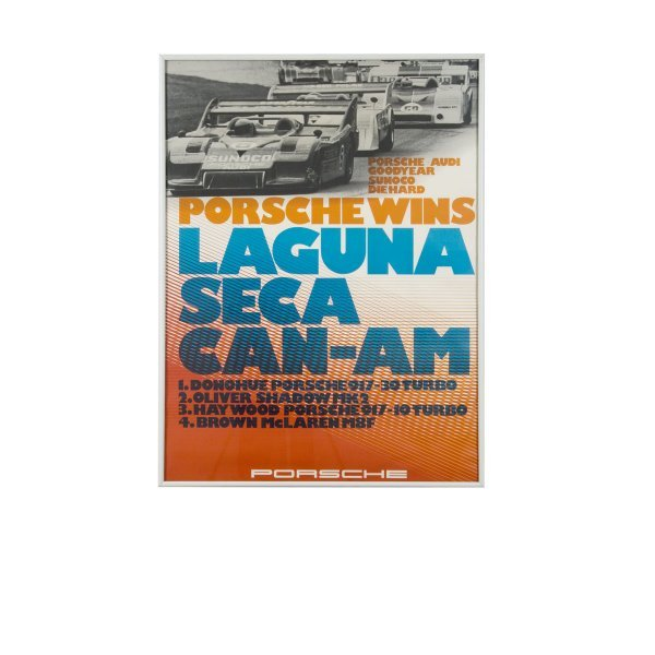 1114: Laguna Seca Can-Am Porsche Factory Poster