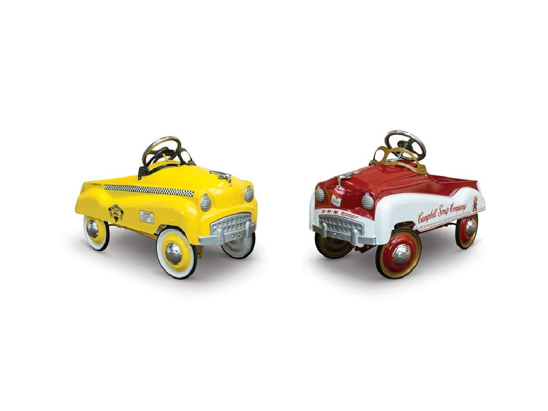 Campbell Soup and Taxi Pedal Cars