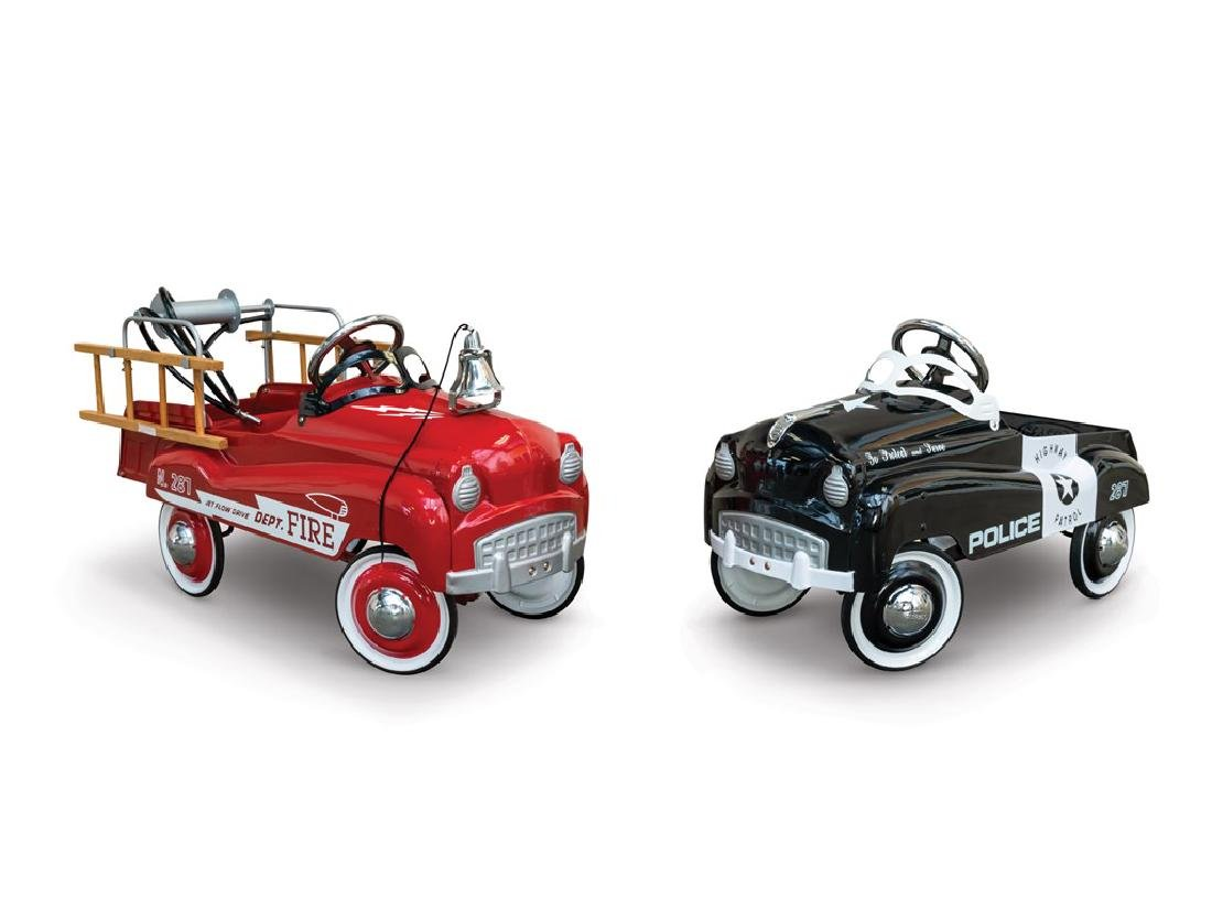 Fire Dept. and Police Pedal Cars