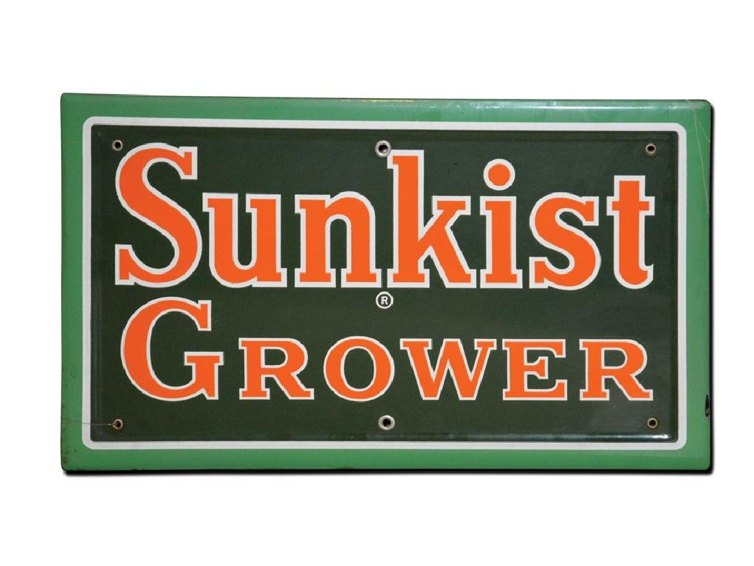 Sunkist Grower Porcelain Sign