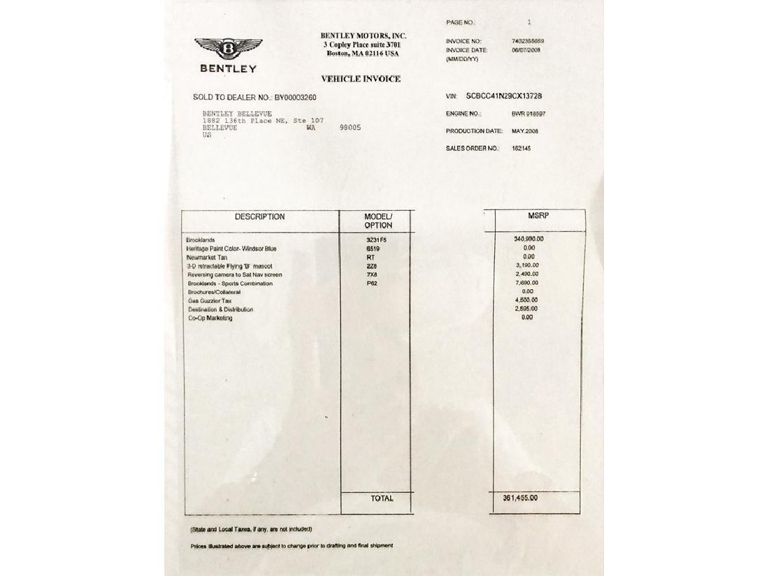 2009 Bentley Brooklands Coupe - 8