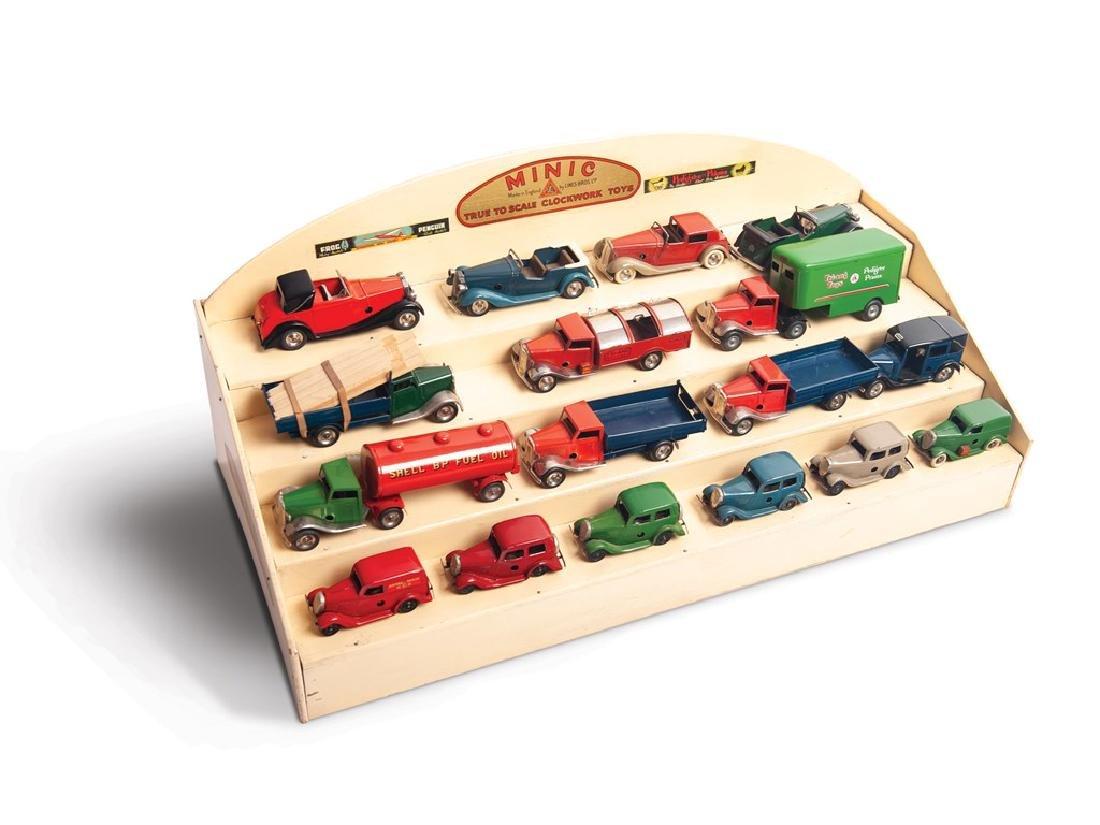 Minic Toy Car Display
