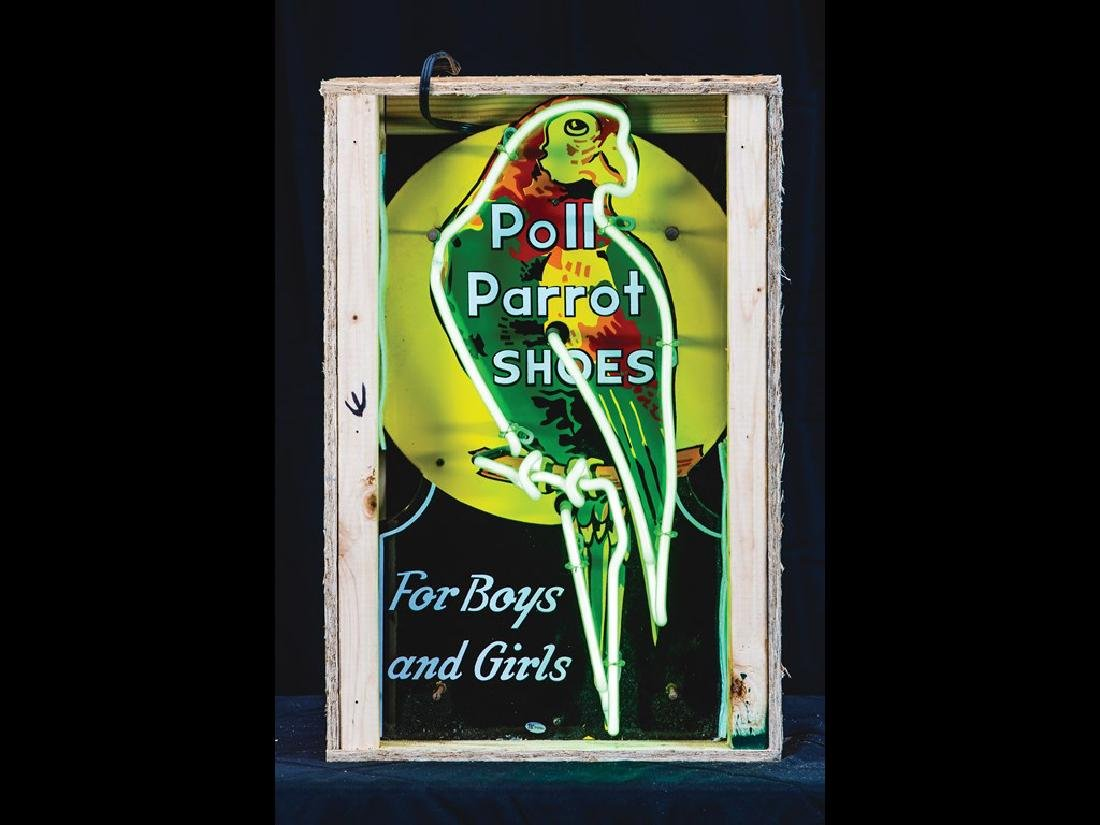 Poll Parrot Shoes For Boys and Girls Neon Sign