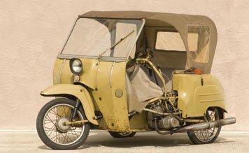 715: 1953 Paraplegic's Scooter with Simson Engine
