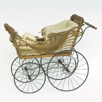 104: Wicker Baby Carriage