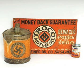 611: Troco Motor Oil Cans and Sign