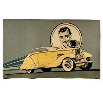 922: Clark Gable Duesenberg Tapestry