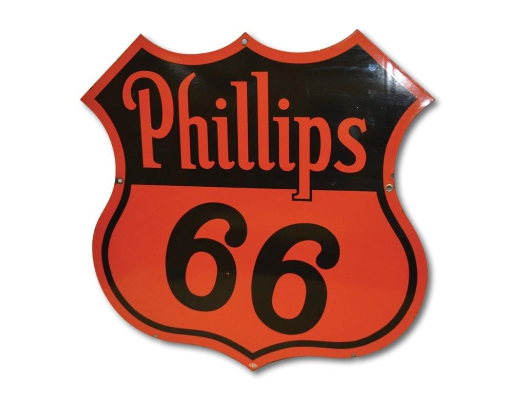Phillips 66 'Red and Black' Porcelain Sign