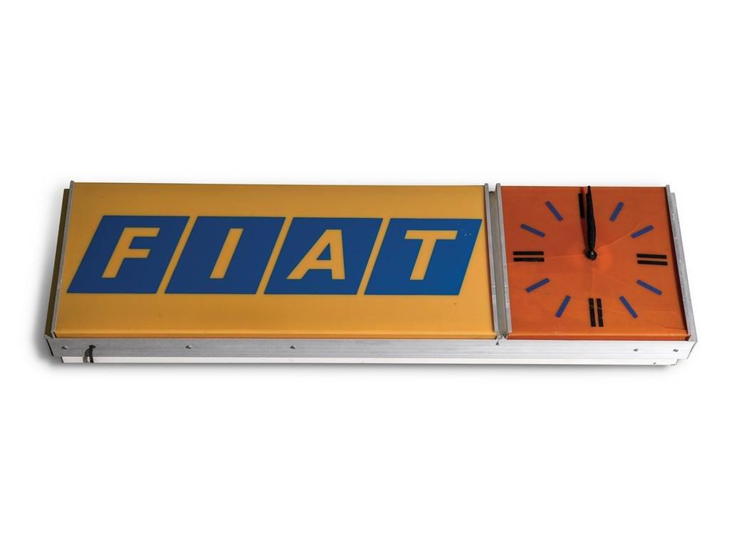 Fiat Clock Sign