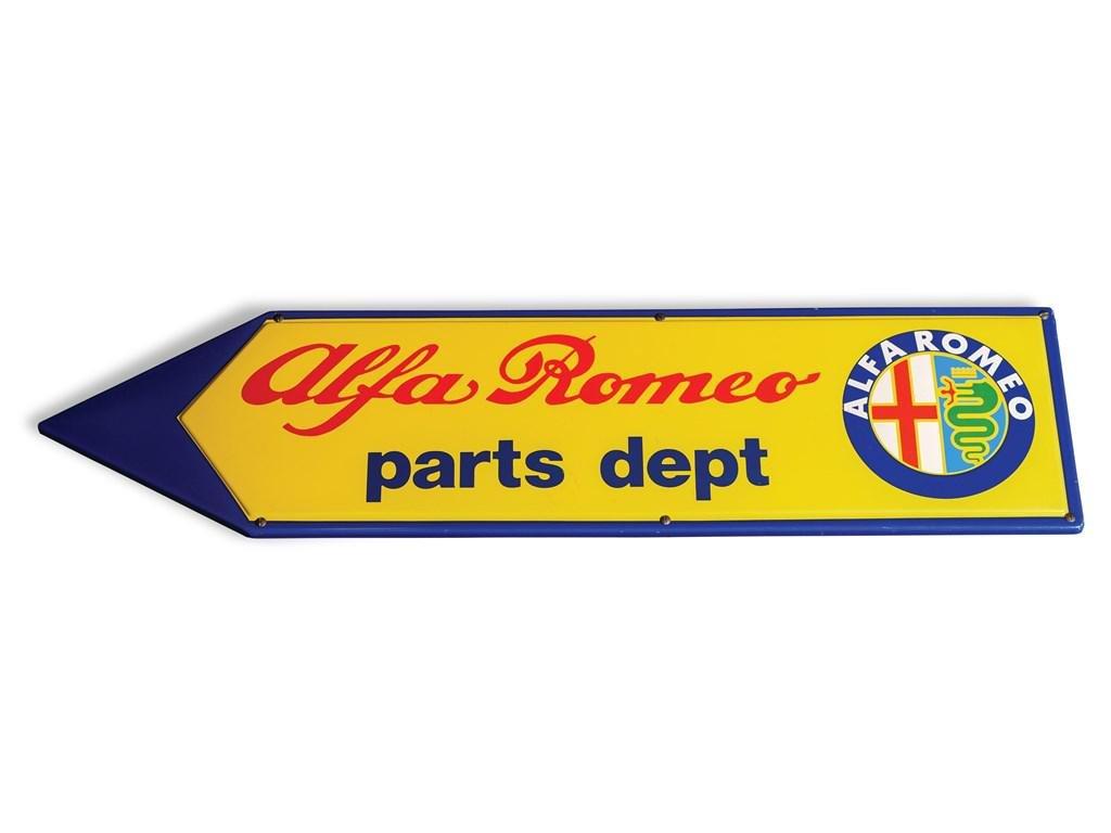 Alfa Romeo Parts Dept. Sign