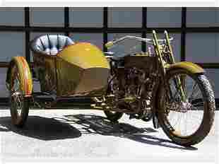 1918 Harley-Davidson Model J with Sidecar