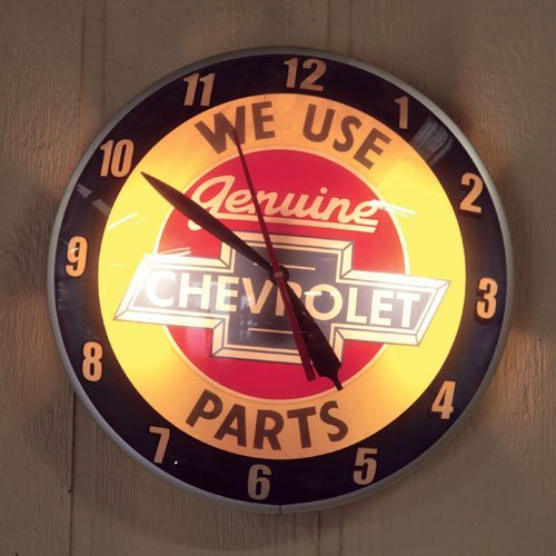 107: Reproduction Chevrolet Parts Double Bubble Clock