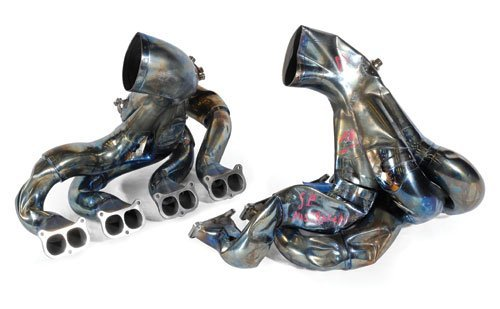 105: EXHAUST MANIFOLDS FROM 2006 AUSTRALIAN GP-CRASHED