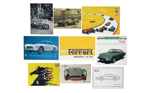 121: COLLECTION OF FERRARI SALES BROCHURES 1947-1970