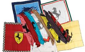 207 COMMEMORATIVE FERRARI SILK SCARVES