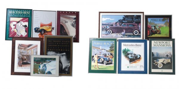 1017: Framed Concours Posters