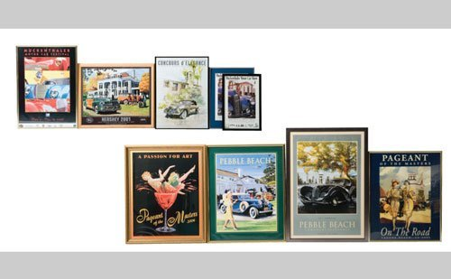 1018: Framed Concours Posters