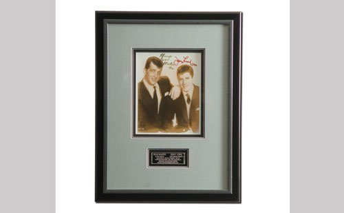 2002: Dean Martin/Jerry Lewis Autographed Display