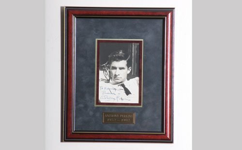 2003: Anthony Perkins Autographed Photo