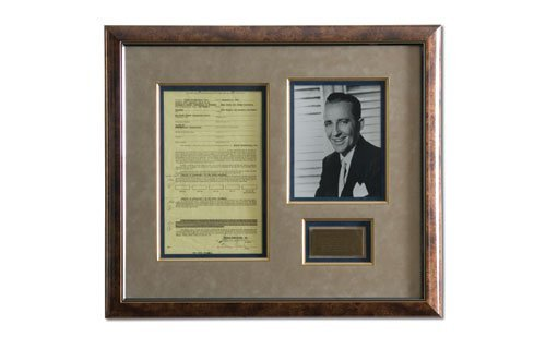 2004: Bing Crosby Signed Contract Display