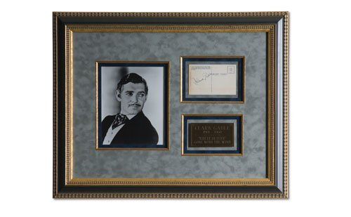 2005: Clark Gable Signed Post Card Display