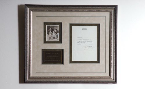 2006: Jimmy Stewart Signed Letter Display