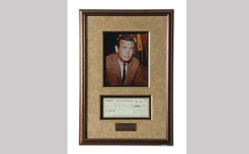 3001: David Janssen Signed Check Display