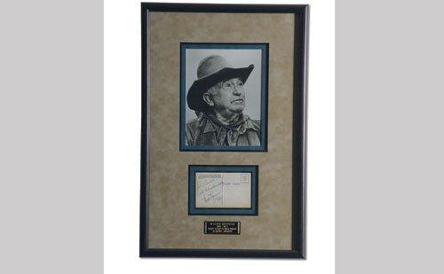 3002: Walter Brennan Signed Post Card Display
