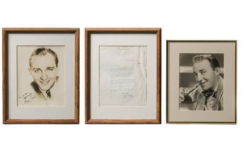 3003: Bing Crosby Autographed Letter and Photos